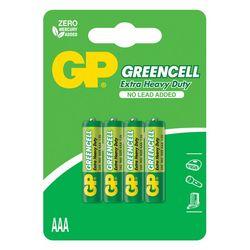 GP Batteries GP24G Greencell R03/1212/AAA İnce Pil - 1.5 V, 4'lü Kart