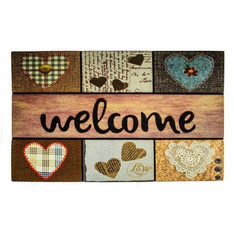 Resim  Giz Home Mozaik Kapı Paspası (Bej) - 45x75 cm