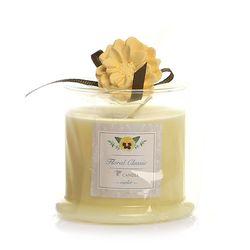 Floral CHK Limon Çiçeği Küçük Boy Cam İçi Mum