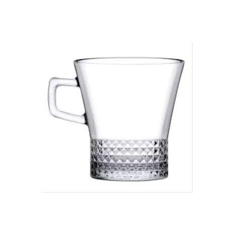 Paşabahçe 55703 6'lı Kuvars Kulplu Çay Fincanı