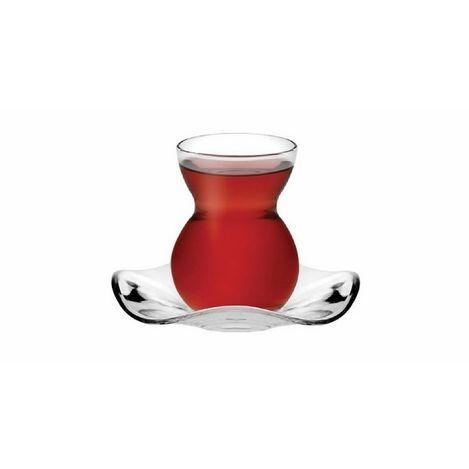 Paşabahçe 96574 6'lı Dantel Çay Bardağı
