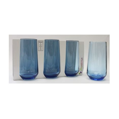 Paşabahçe 420015 3'lü Allegra Meşrubat Bardağı - Mavi