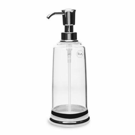 Perotti Akrilik Şeffaf Sıvı Sabunluk - Gümüş