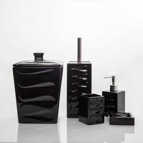 Perotti 13063 5 Parça Kovalı Banyo Takımı - Siyah