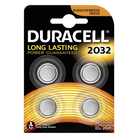 Resim  Duracell Düğme Pil 2032 4'lü 3 Volt