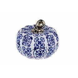 Lucky Art Desenli Kc Balkabagı Dekor - 13x11 cm - Mavi/Beyaz