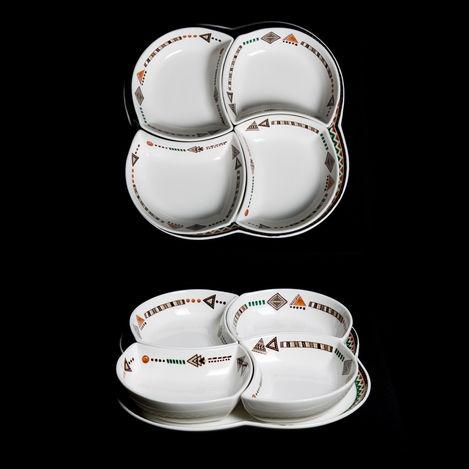 Lucky Art Safari Porselen Kahvaltı Takımı