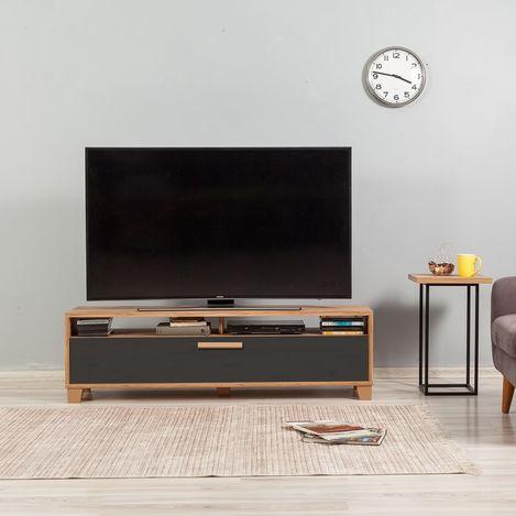 Just Home Box Tv Ünitesi (Atlantik Çam / Antrasit) - 140 cm