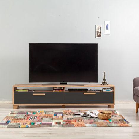 Just Home Box 180 cm Tv Ünitesi - Atlantik Çam / Antrasit
