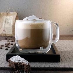 Zwilling Sorrento Çift Camlı Kulplu 2'li Cappucino Bardak Seti - 450 ml