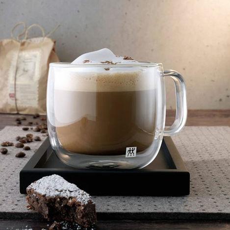 Resim  Zwilling Sorrento Çift Camlı Kulplu 2'li Cappucino Bardak Seti - 450 ml