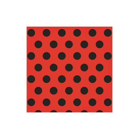 Resim  Roll-up AY-101 20'li Party Dreams Puantiyeli Peçete (Siyah / Kırmızı) - 33 cm
