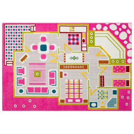 Eko Halı KP 03 Pink Çocuk Halısı - 133x190