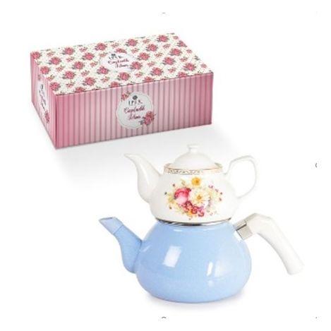 İpek Çaydanlık Takımı - Porselen/Emaye