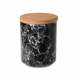 İpek Ahşap Kapaklı Seramik Kavanoz - Granit