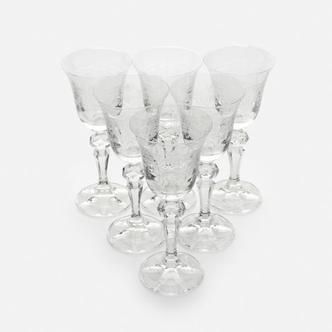 Resim  Cemile Rönesans 6'lı Ayaklı Kahve Yanı Su Bardağı