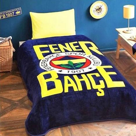 Taç Lisanslı Fenerbahçe Taraftar Tek kişilik Battaniye (Lacivert) - 160x220cm