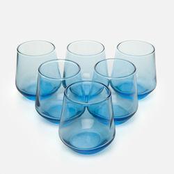 Paşabahçe 420202 6'lı Allegra Kahve Yanı Su Bardağı - Mavi
