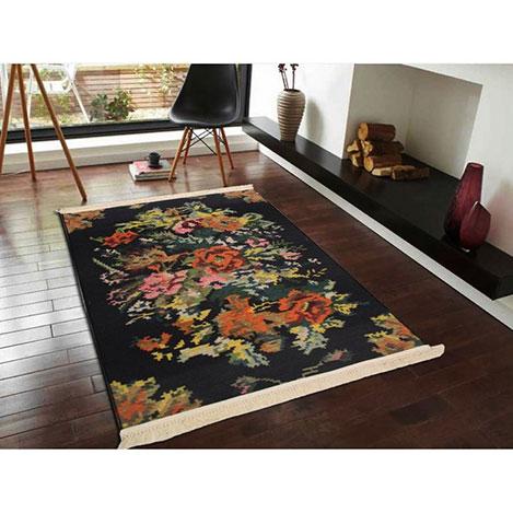 Resim  Marka Ev 35 Karabağ Halı (Siyah) - 155x230 cm