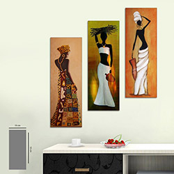Evi Mona 3DİKEY-12 Mdf Tablo - 3 Parçalı