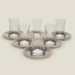 İpek Krosno 12 Parça Çay Seti - DarkBlue (824)