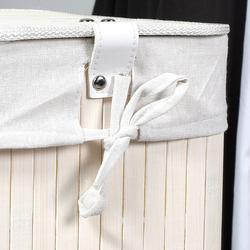 Handy Mate Bambu Çamaşır Sepeti - Beyaz