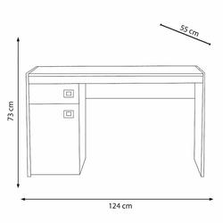 Adore Concept Pro Çekmeceli Çalışma Masası - Noce / Beyaz