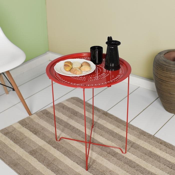 Resim  Adore Handy Mate Vergo Tepsi ve Sehpa - Kırmızı