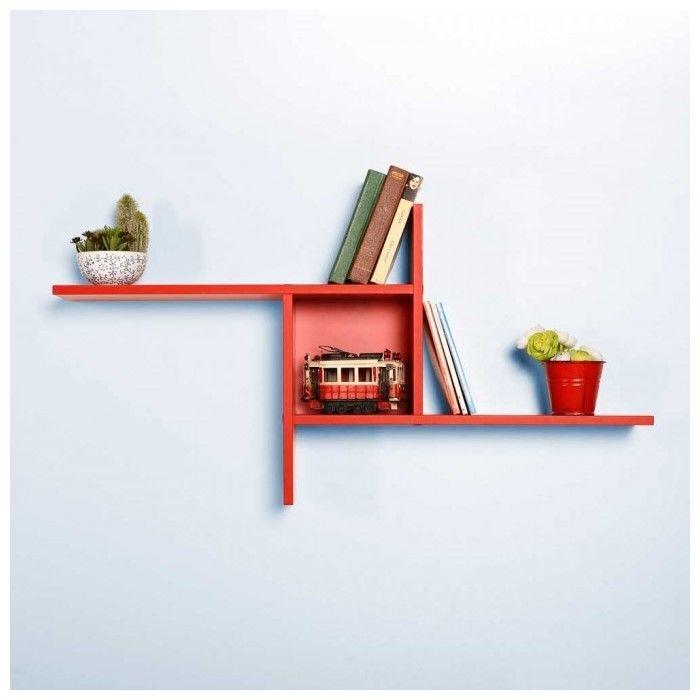 Resim  Adore Plus Dekoratif Duvar Rafı - Kırmızı
