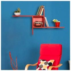 Adore Plus Dekoratif Duvar Rafı - Kırmızı