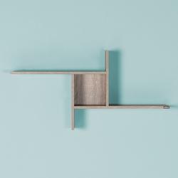 Adore Plus Dekoratif Duvar Rafı - Latte