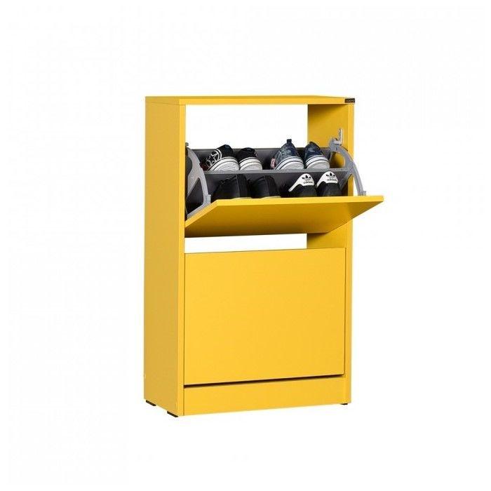 Adore Flat Duo 2 Katlı Ayakkabılık Dolabı - Sarı