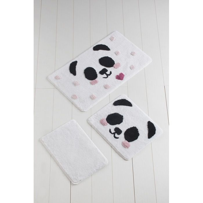 Chilai Home Panda 3'lü Klozet Takımı - Krem