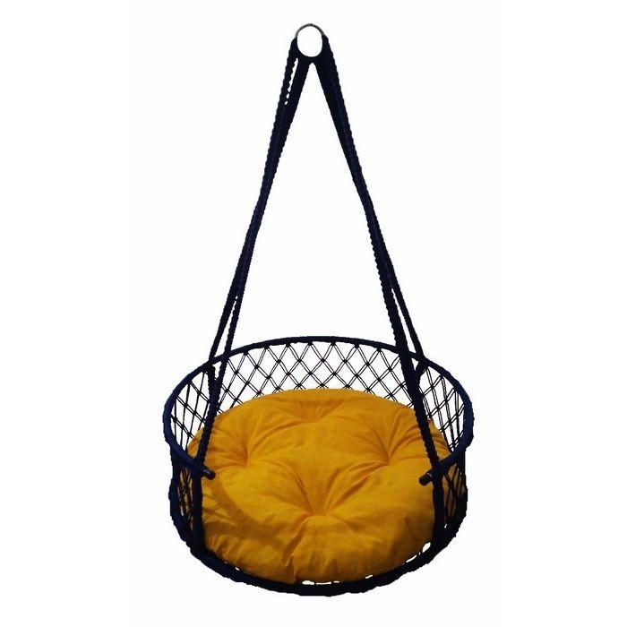 Resim  Altınoluk 60'Lık Davul Salıncak Lacivert ( Sarı Minderli )