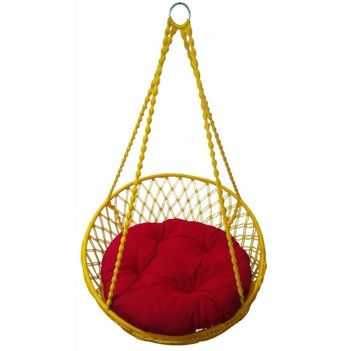 Altınoluk Relaks Salıncak Sarı ( Kırmızı Minderli )