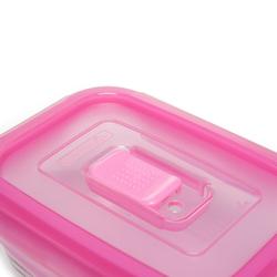 Luminarc Pure Box Dikdörtgen Saklama Kabı - Pembe / 380 ml.