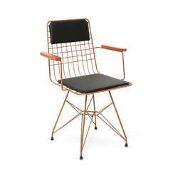Akın Lüx Kollu Sandalye - Bakır/Siyah