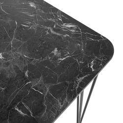 Akın Lüx Modern Tel Ayaklı Masa - Siyah