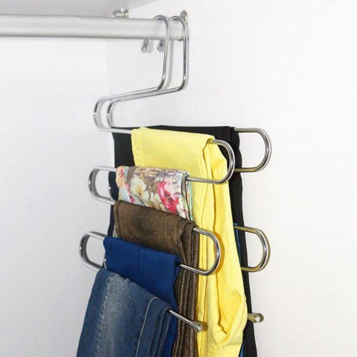 Resim  Alper Banyo AY853 2'li 5 Katlı Akıllı Pantolon Askısı