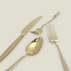 Aryıldız Elegant Pvd 24 Parça Çatal Kaşık Bıçak Takımı - Gold