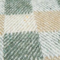Buca Yün Ekose TV Battaniyesi (Yeşil / Sarı) - 130x150 cm