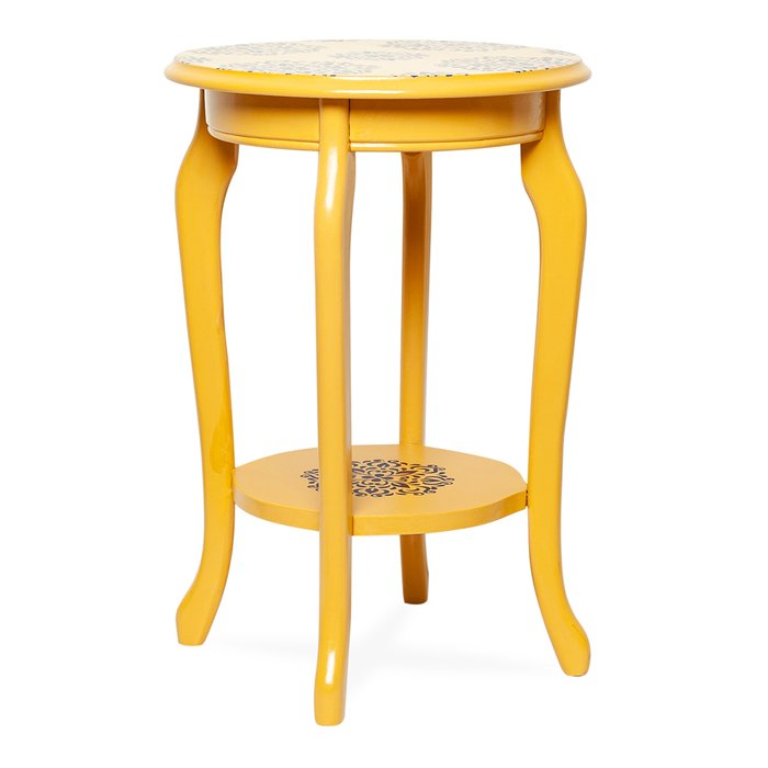 Orta Sofa Amber Yan Sehpa - Sarı