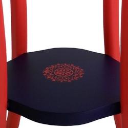 Orta Sofa Bohem Yan Sehpa - Kırmızı / Mor