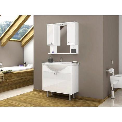 Resim  House Line Vira 80 Banyo Dolabı - Beyaz