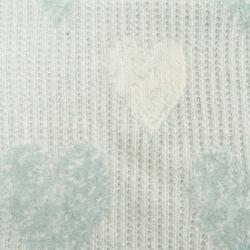 Dolce Bonita Home Pamuklu Tv Battaniyesi - Petek Örgü Kalp Mint