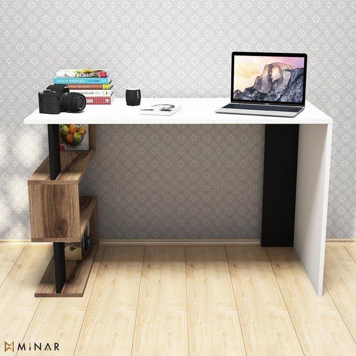 Resim  Minar Snap Mini Çalışma Masası  - Beyaz / Çırağan / Siyah