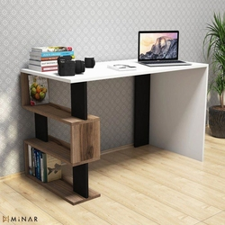Minar Snap Mini Çalışma Masası  - Beyaz / Çırağan / Siyah