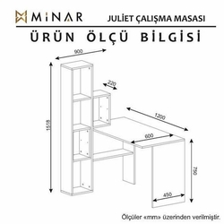 House Line Juliet Calısma Masası - Beyaz/İstanbul