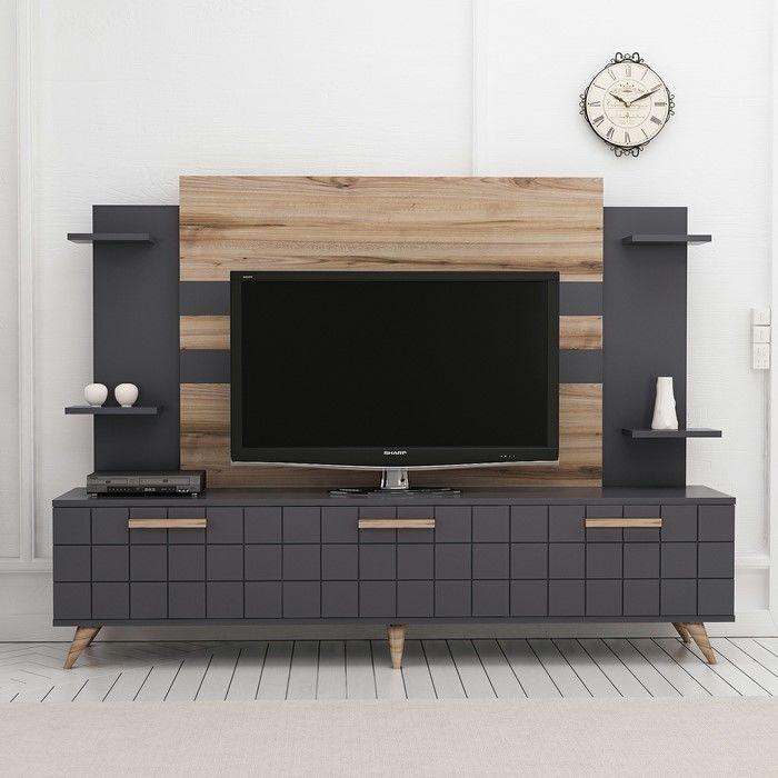 Resim  House Line Grace Tv Ünitesi - Tv Sehpası - Antrasit/Çırağan