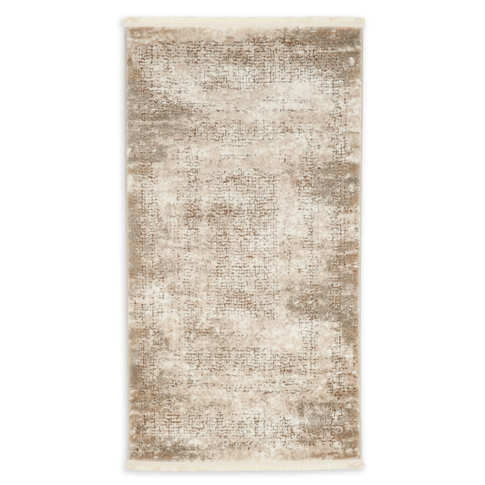 Bahariye Ezgi TW 5660 Makine Halısı (Beyaz/Kahverengi) - 79x150 cm